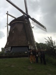 Nice group of ladies from Brasil in front of the Rembrandt windmill