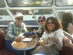 Boat trip through Amsterdam with couple from San Sebastian 2015